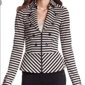 White House Black Market Striped Jacket/Blazer